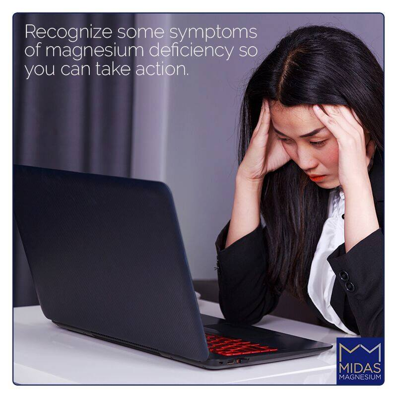 Recognize some symptoms of magnesium deficiency so you can take action.